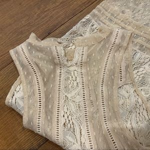 Lovely sheer lace top, Free People, size S/P